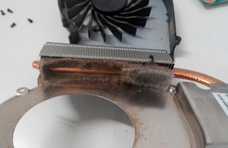Радиатор до чистки.